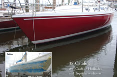 38' Catalina - Awl craft on hullsides and topsides with new non skid