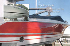 Chris Craft with hull sides paintd and awl grip