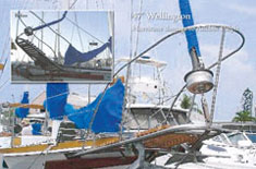 Wellington - hurricane damage to anchor pulpit