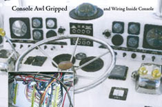 Console awl grip and wiring inside console
